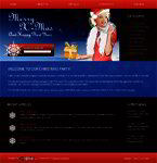 Free X-Mas Website Template